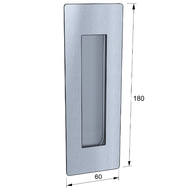 PULL HANDLE 180x60 STAINLESS STEEL